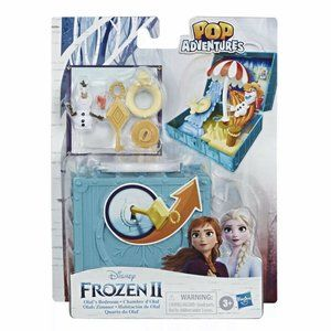New! Frozen 2 Portable Pop-up Bedroom Playset Olaf